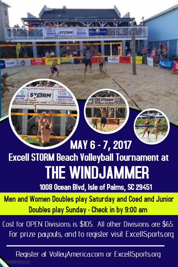 volleyball game flyer template 3 the windjammer front beach