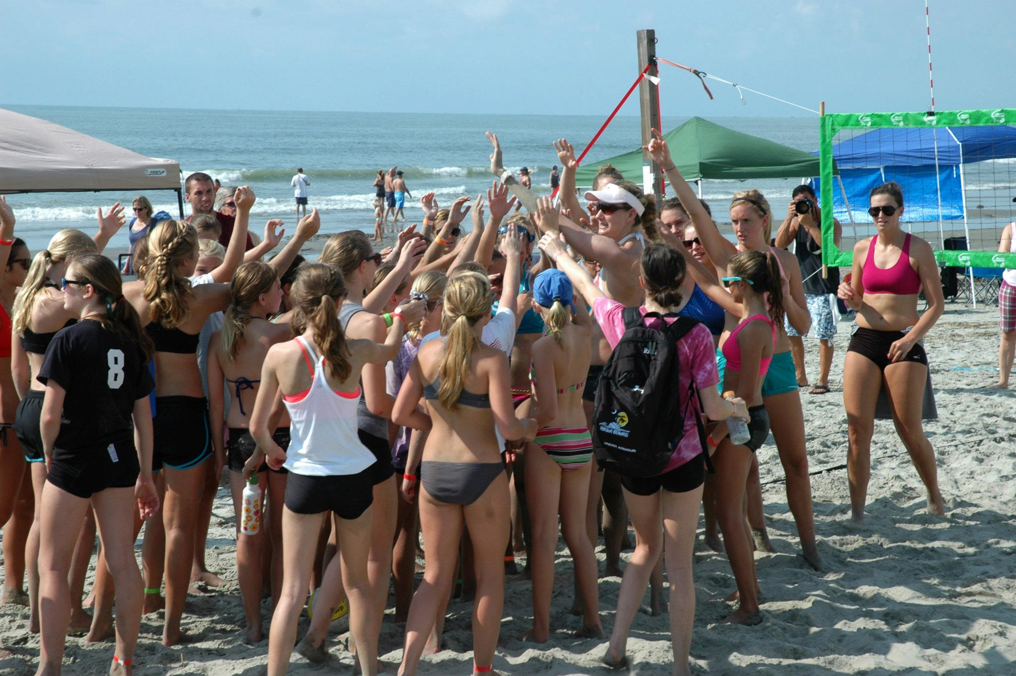Keri Walsh hold Volleyball Clinic at The Windjammer