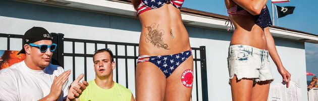 Rob Gronkowski Hangs out for our first bikini Bash of 2015